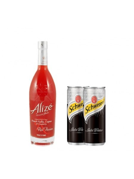 ALIZE RED PASSION LIQUEUR (FOC 2 SCHWEPPES SODA WATER)