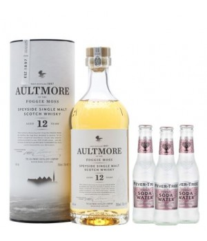 AULTMORE 12 YEARS SPEYSIDE SINGLE MALT WHISKY ( GET 3 FREE FEVER TREE SODA WATER 200 ML ) (ONLINE EXCLUSIVE)