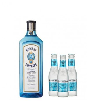BOMBAY SAPPHIRE GIN ( GET 3 FREE FEVER TREE TONIC WATER 200 ML ) (ONLINE EXCLUSIVE)