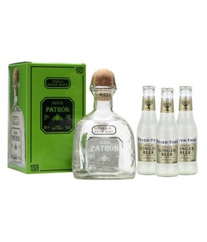 PATRON SILVER ( GET 3 FREE FEVER TREE GINGER BEER 200 ML ) (ONLINE EXCLUSIVE)
